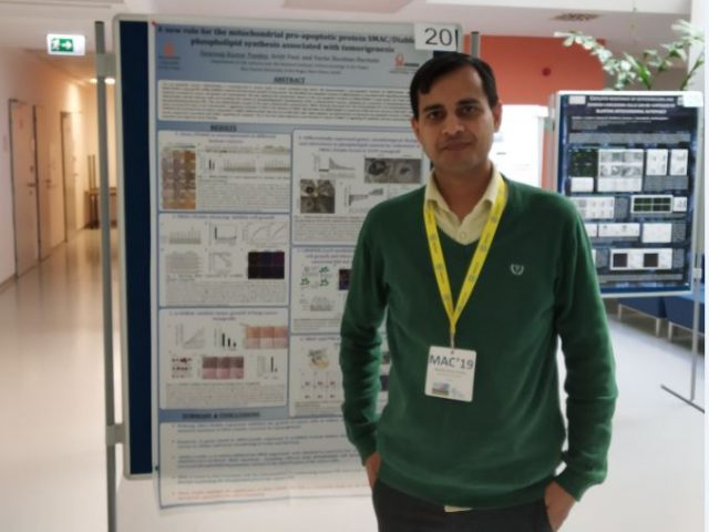Congrats Dr. Swaroop Kumar Pandey – winning poster – 6th Biannual meeting on Mitochondria Apoptosis & Cancer 2019
